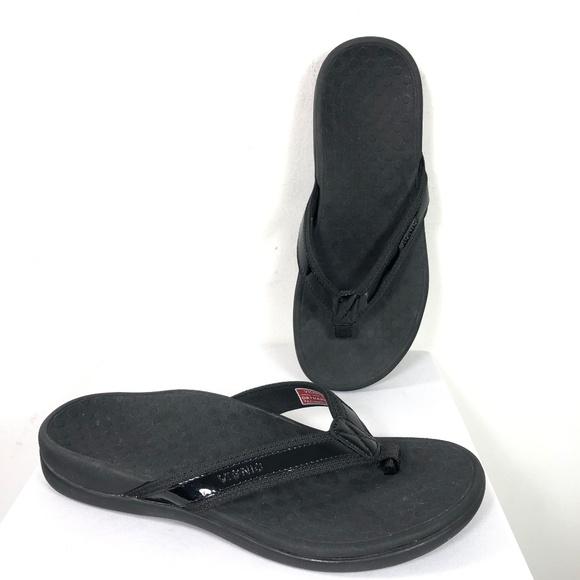 ca90066f0983 Vionic Sandals Flip Flops Tide II Black Orthaheel.  M 5c147cb98ad2f9aa4f4afd7d